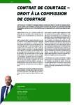 Contrat de courtage – Droit à la commission de courtage